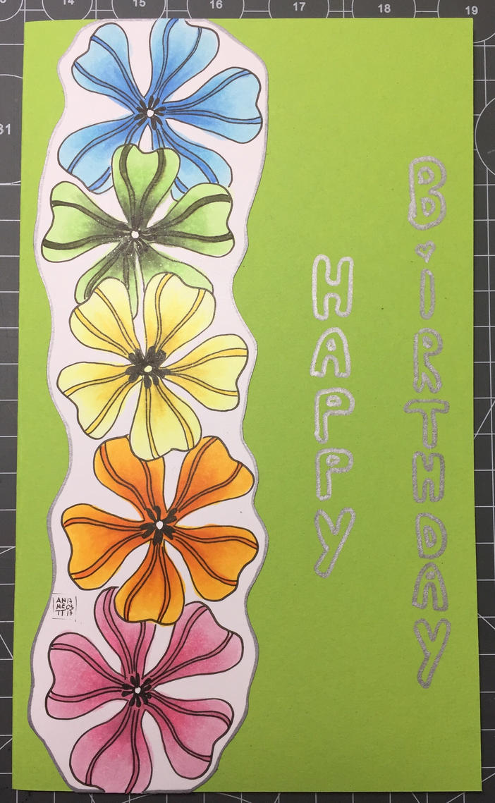 Birthday card 4 Nicole 03/2017 by 8Annett8