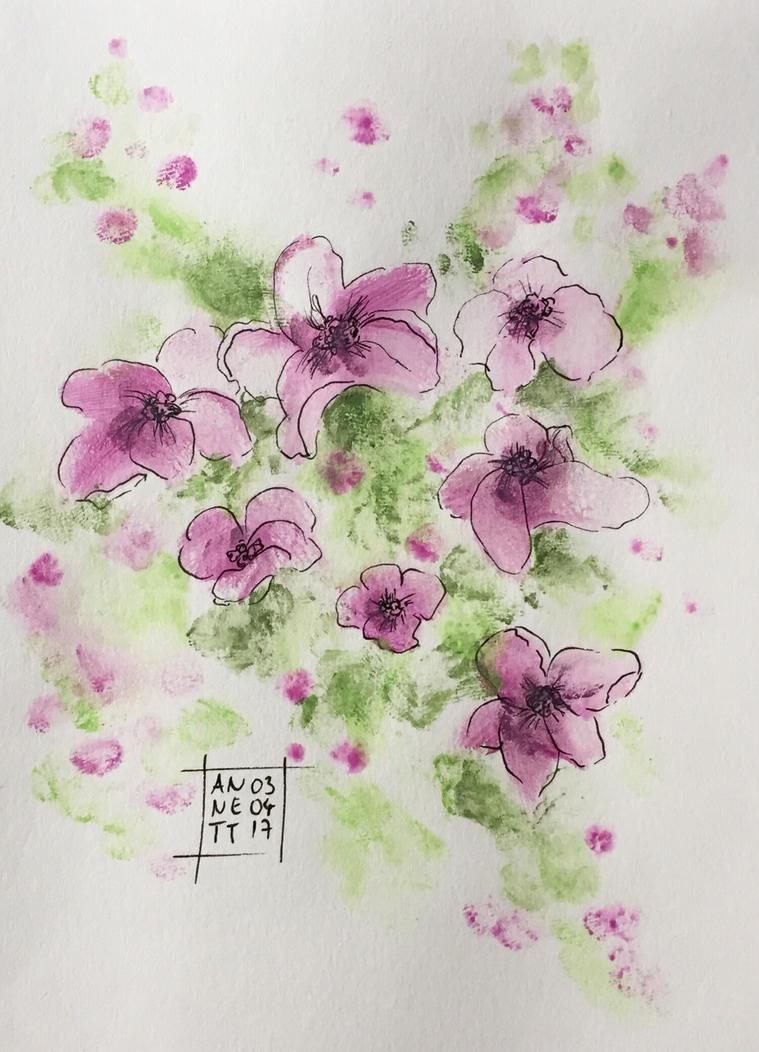 Purple Flowers ...again by 8Annett8