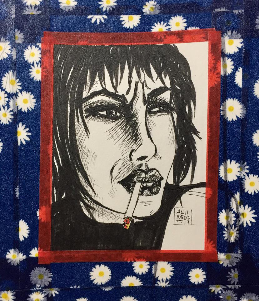 Smoking Girl #2  by 8Annett8