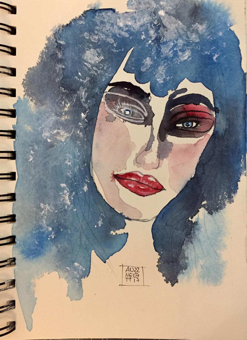 Blue hair  by 8Annett8