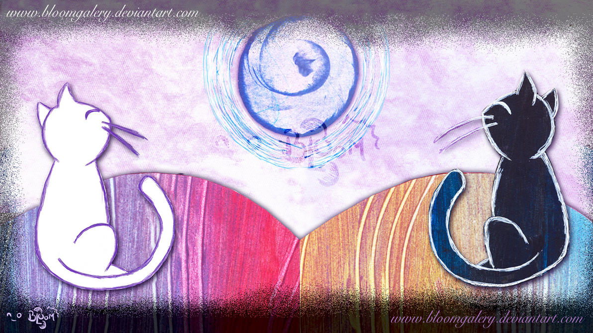 Bajo la misma luna atardecer by bloomgalery on deviantart for Mural la misma luna