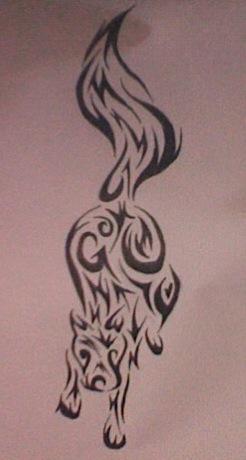 Just Go-Wolf-Fox Tribal Tattoo by DeannaFancy