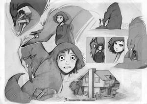 Charlie and the Shadow sketch set