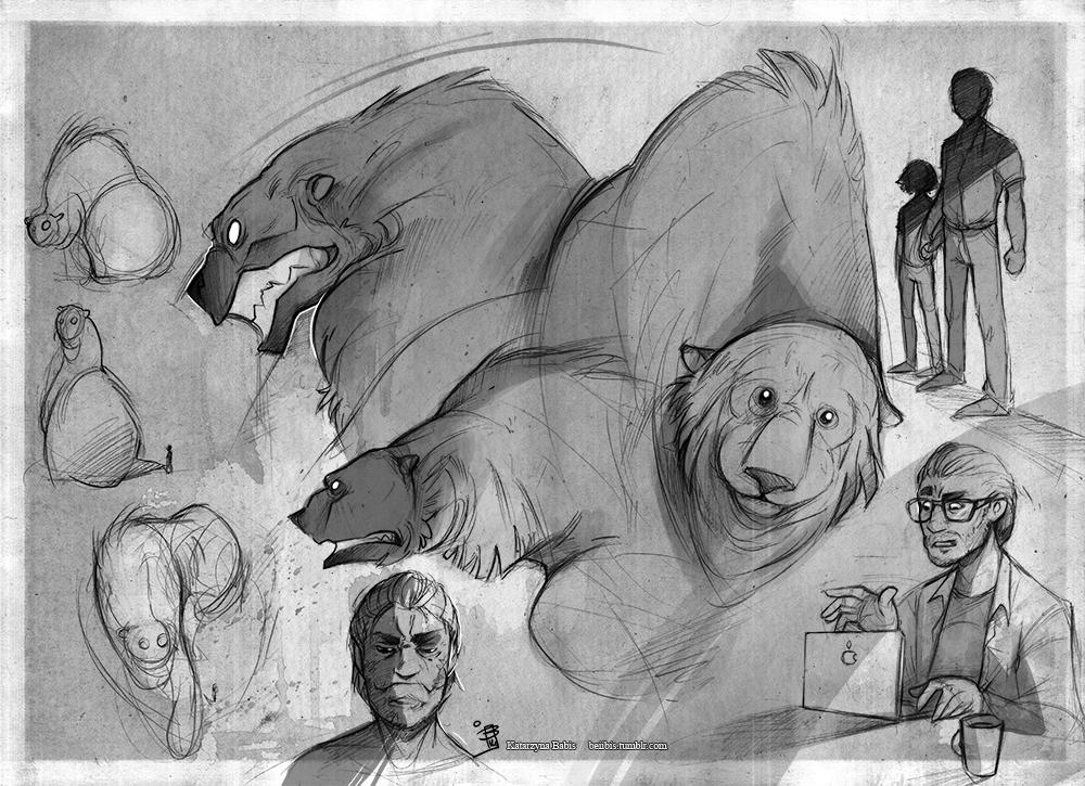 Arthur  sketch set by beiibis