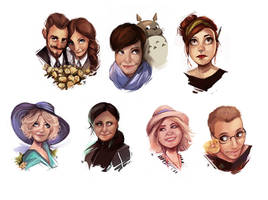 Commission portraits by beiibis