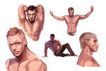 Male Anatomy Study by beiibis