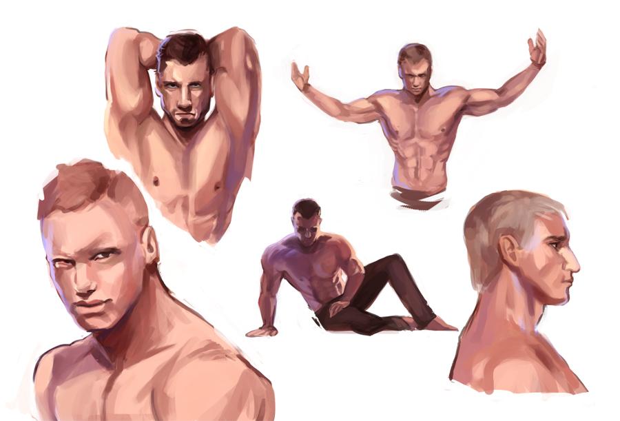 Male Anatomy Study by beiibis