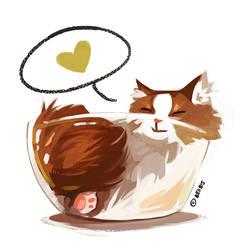 Happy Bowl Cat