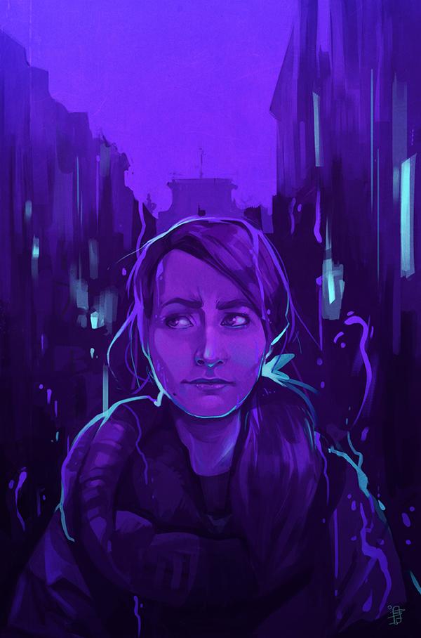 Stuck in blue