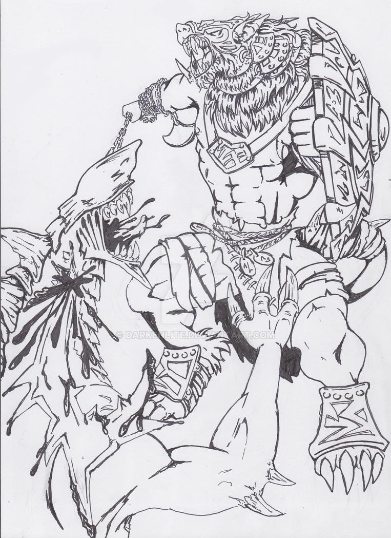 Loki with Carnivean by Darkenlite