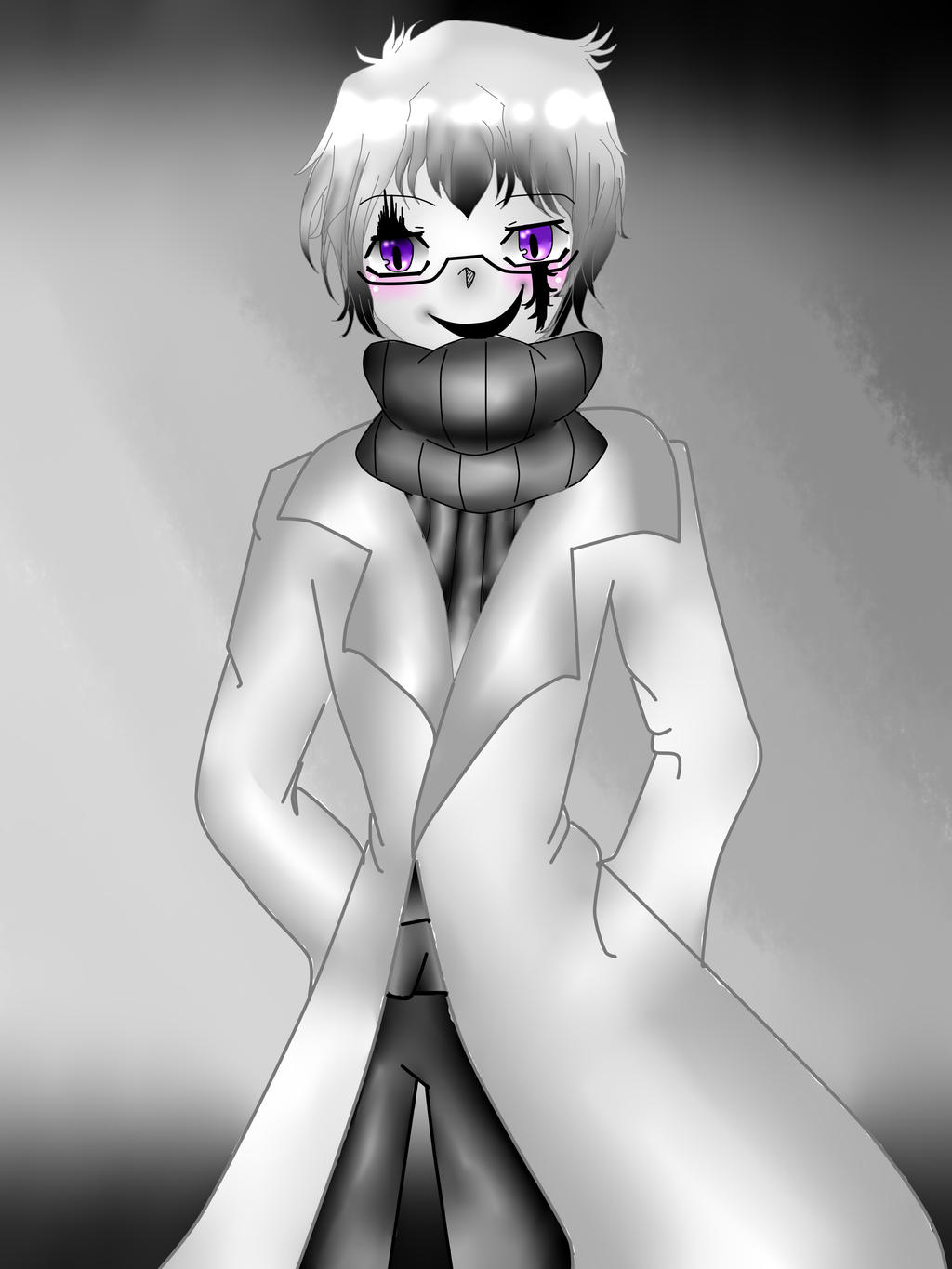 Anime W.D. Gaster [Made with PC Mouse] by Shinkomi