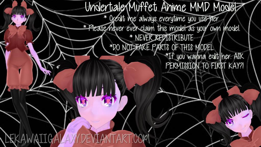 [MMD Undertale] Anime Muffet Model DL (FIXED) by Shinkomi