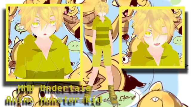 MMD x Undertale Anime Monster Kid + DL? by Shinkomi
