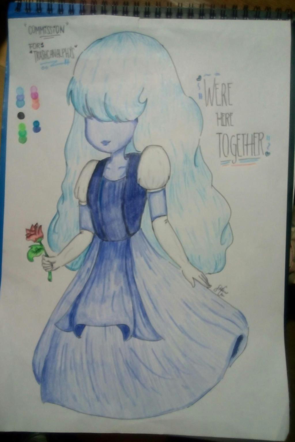 [COMMISSION] Sapphire ~Steven Universe~ by Shinkomi