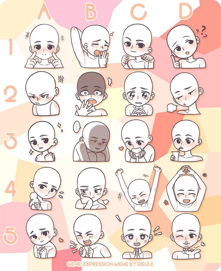 [INSTANT YCH] Expressions headshots [OPEN] by Shinkomi