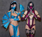 Kitana cosplay Mortal Kombat 9