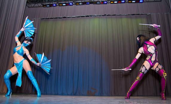 Kitana cosplay Mortal Kombat