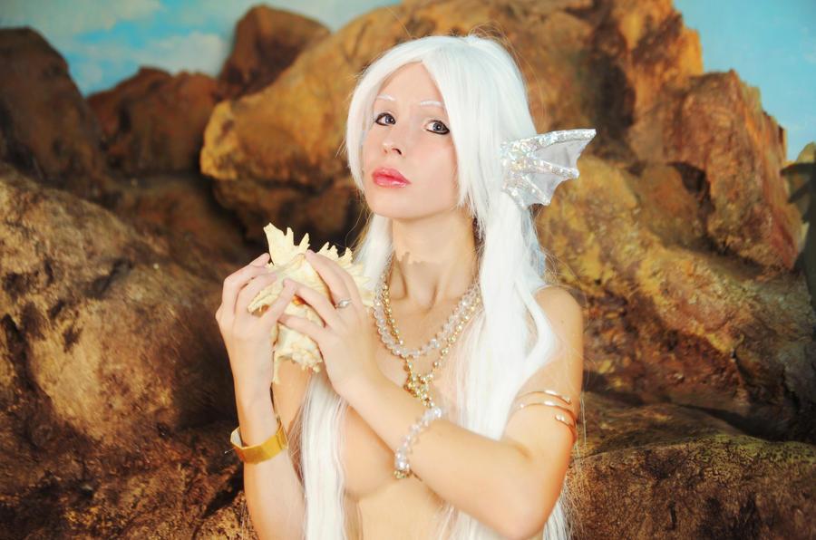 white mermaid original by Nemu013