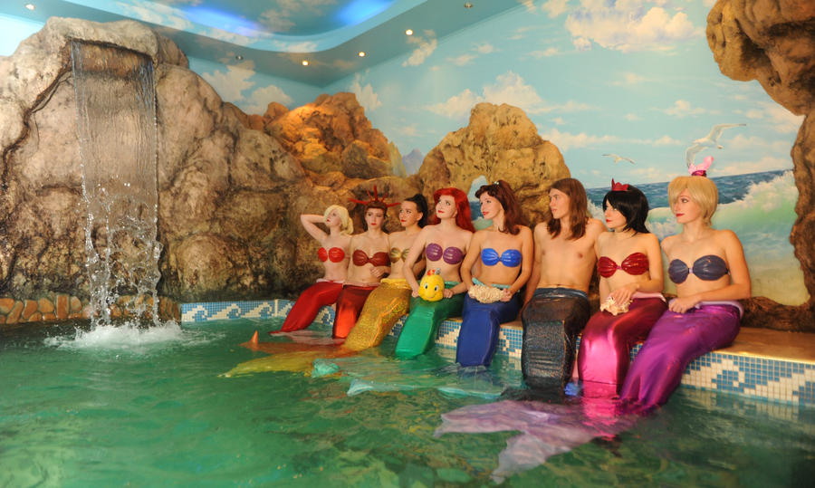 group of mermaids me as Aquata by Nemu013