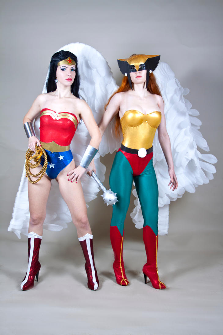 Wonder Woman and  Hawkgirl cosplay by Nemu013