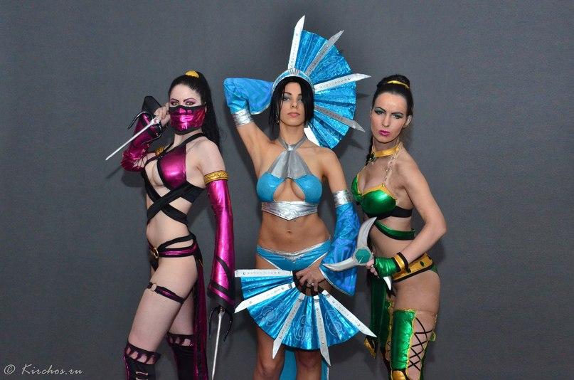 Mileena,Kitana,Jade alternate costumes MK9 by Nemu013