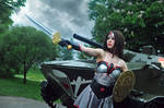 Injustice cosplay Wonder Woman Soviet Union