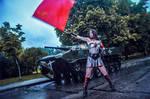 Injustice cosplay Wonder Woman Soviet Union