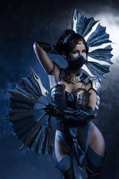Kitana from MK X cosplay