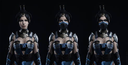 Kitana from MK X cosplay