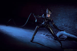 Cat-woman cosplay from Batman Returns