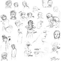 Sketches - Jan-Mar 2010 by hoatzins