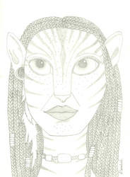 Neytiri in pencil by S-Isabel