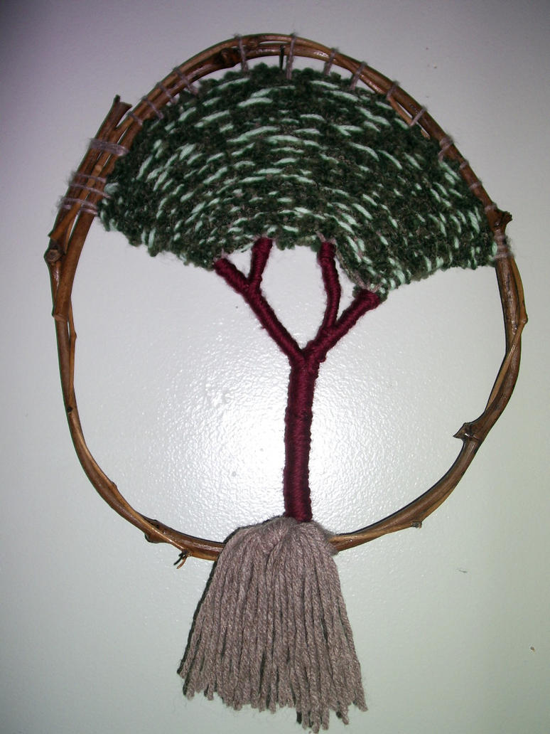 yarn tree wall hanging by S-Isabel