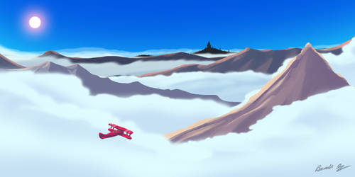 Flight Above the clouds by wolfwoot