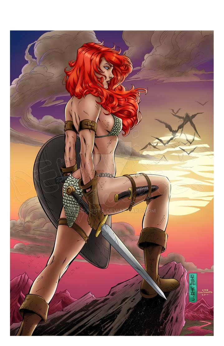 Red Sonja Fan Art_Colors by debuhista