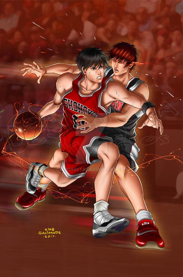 Battle of the Aces_Rukawa vs Kagami by debuhista