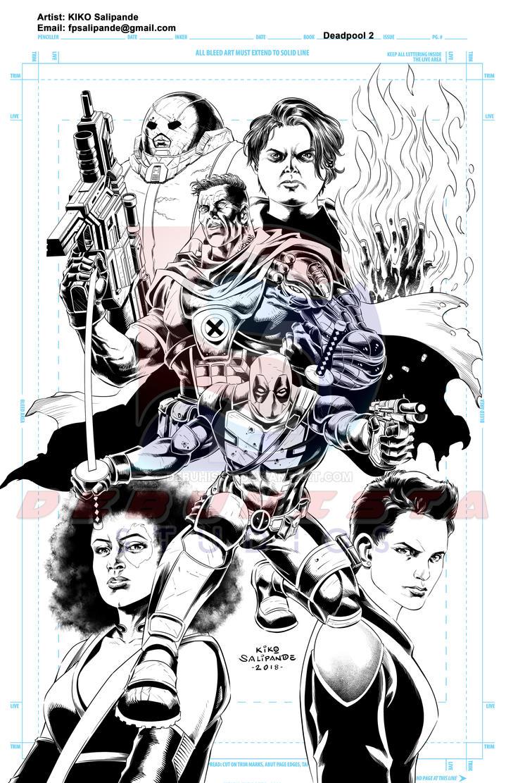 Deadpool 2 Fan art_Digital inks by debuhista