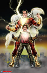Shazam_Captan Marvel and Billy Batson_2019 by debuhista