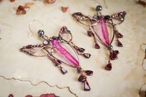 Copper Earrings - Totem -