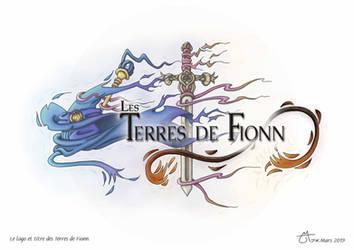 Le logo et titre des Terres de Fionn by Raanana