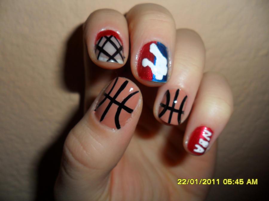 Basketball nails by Ruri-shokorush ... - Basketball Nails By Ruri-shokorush On DeviantArt