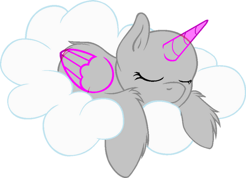 Mlp Base Pegasus Sleeping Two Pictures To Pin On Pinterest
