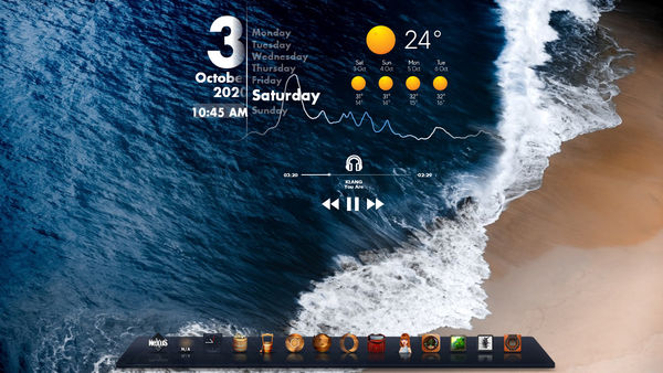 chill desktop customization