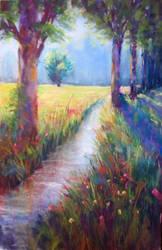 Oorbeek (pastel painting) SOLD