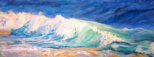 Summer wave (pastel painting) by mislyd