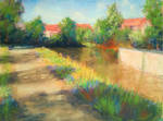 Stroll by the river (pastel painting) by mislyd