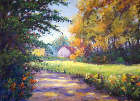 The path to civilization (pastel painting)
