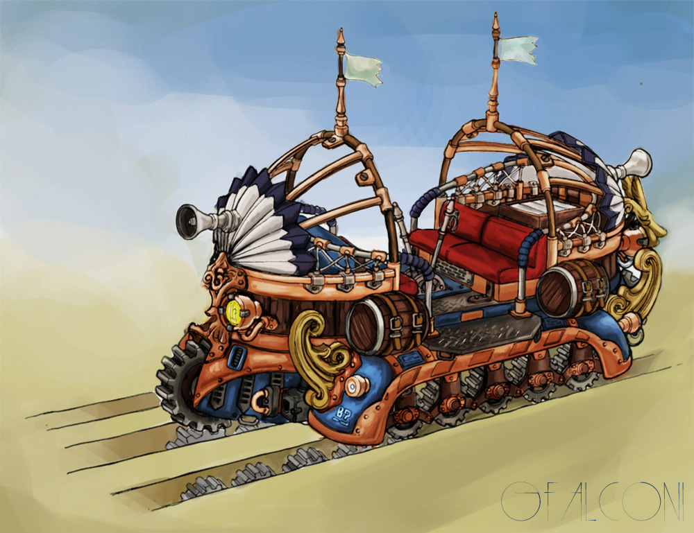 Steampunk Veichle by Someone9999
