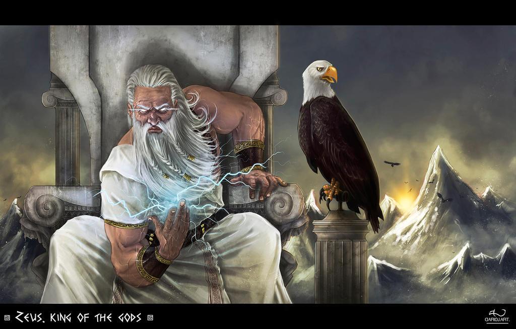 Zeus by DarioJart on D... Zeus Digital Painting