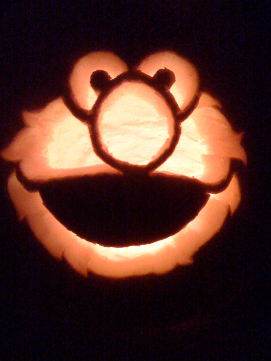 Elmo Pumpkin Carving by MakingMyMark